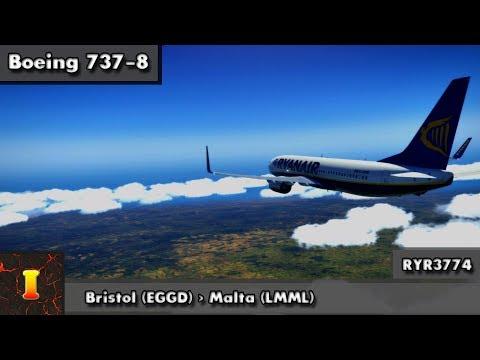 [XP11] [738] | Bristol (EGGD) ✈ Malta (LMML) | RYR3774