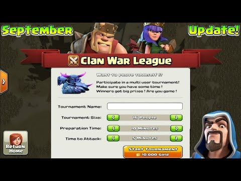 September Update : Clan War League Is Coming? | Clash Of Clans New War Mode?