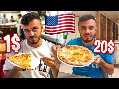 PIZZA DA 1 DOLLARO VS PIZZA DA 20 DOLLARI AMERICANA!