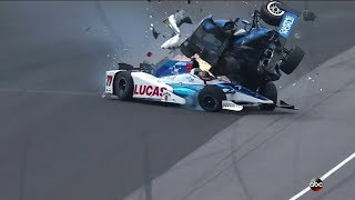 Insane Crash Between Scott Dixon and Jay Howard 2017 Indy 500