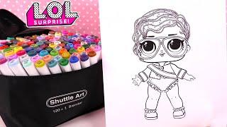 Poupées LOL Coloriage Paillettes Shimone Queen Coloring