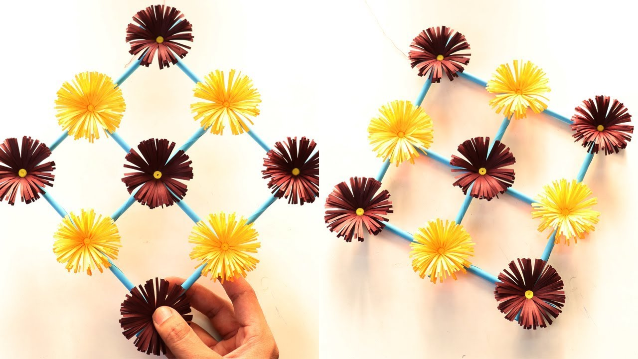 How to Make Paper Flower Wall Hanging – DIY Hanging Flower Tutorial ...