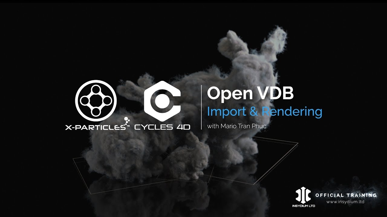 Quick Guide - How to import OpenVDB files to X-Particles, then render with  Cycles 4D