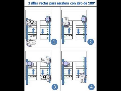2 sillas salvaescaleras rectas para una escalera de dos for Escaleras de madera de dos tramos