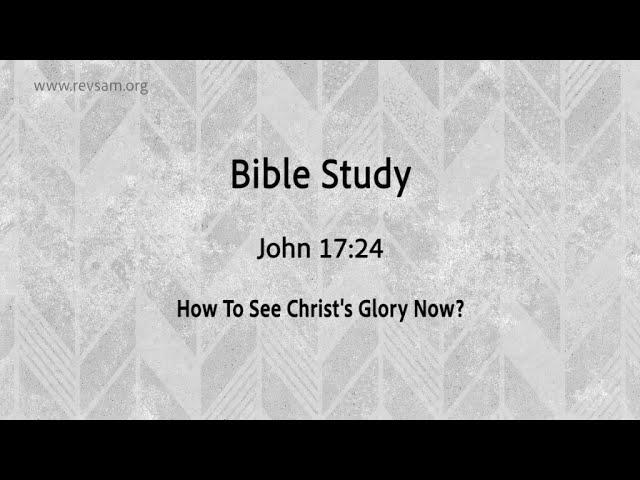 How To See Christ's Glory Now? | Jeevan Chelladurai | Tuesday Service | AFT Church | 01-Dec-2020