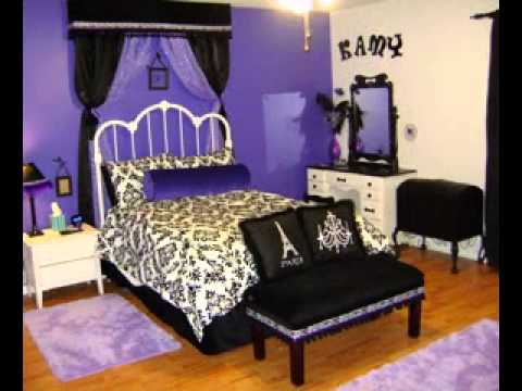 Easy diy purple and black bedroom design ideas youtube Purple and black bedroom