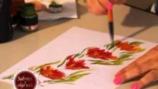 Prof. Carola Vargas - Pintura sobre tela - Técnica Sublimación.
