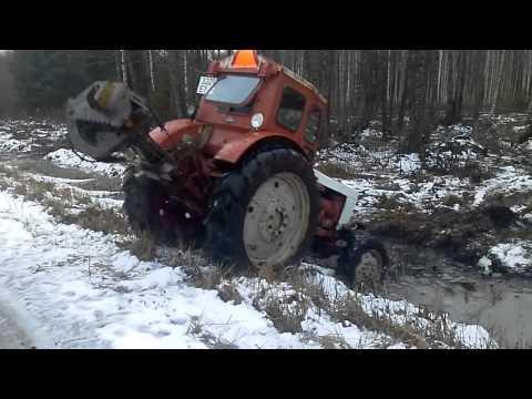 Запуск трактора мтз-82 - YouTube