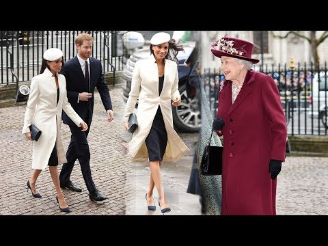 Meghan Markle today joined the Queen and senior royals for her first official engagement