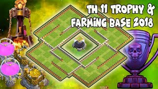 Th11 Legend Trophy Base 2018 | TH11 LEGEND DARK FARMING BASE LOOT PROTECTION BASE