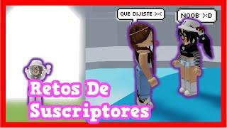 Cumpliendo RETOS De SUSCRIPTORES 😬😨 || ROBLOX || Valen Latina