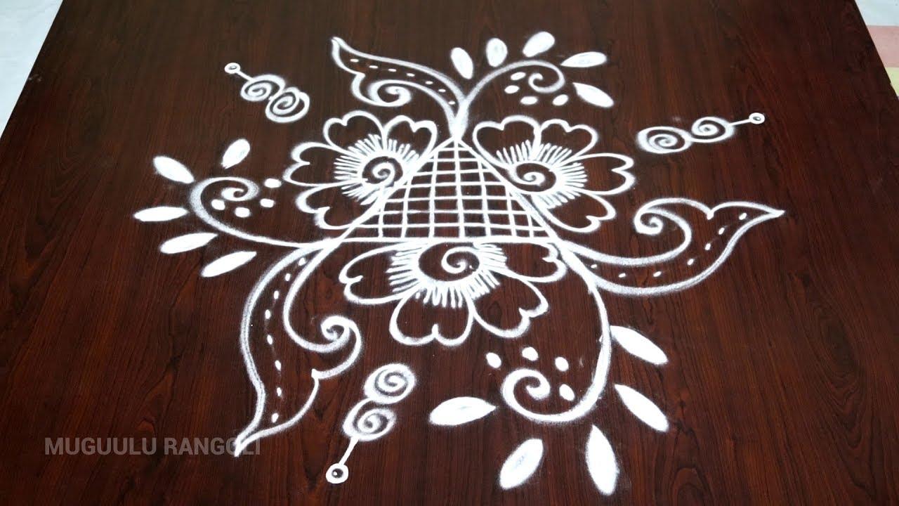 easy and beautiful rangoli || easy rangoli designs || easy