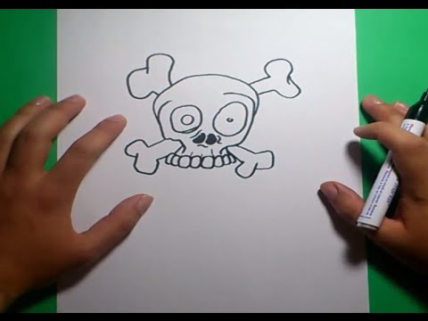 Como dibujar una calavera paso a paso 9  How to draw a skull 9