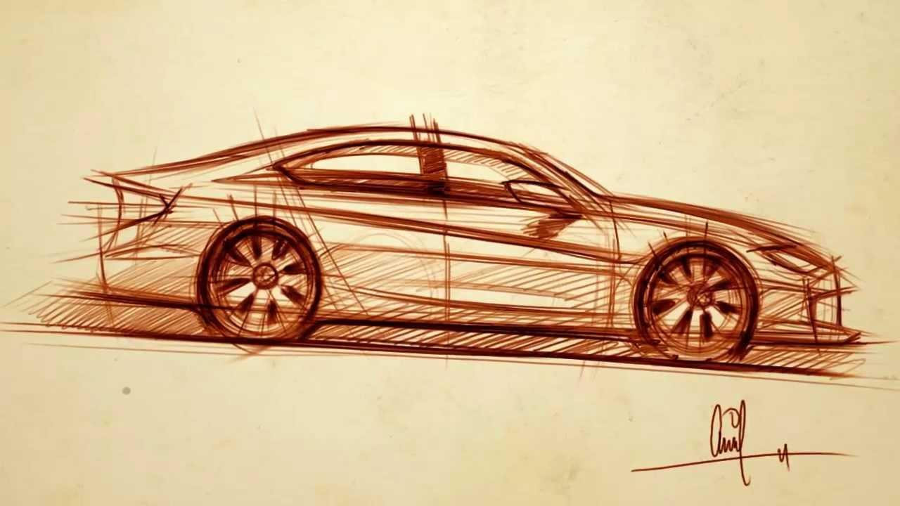 Sketching A Side View Car Vid 1
