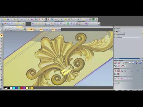 УП в ArtCAM 2011  для фрезировки по  3d модели в с учетом контура модели.