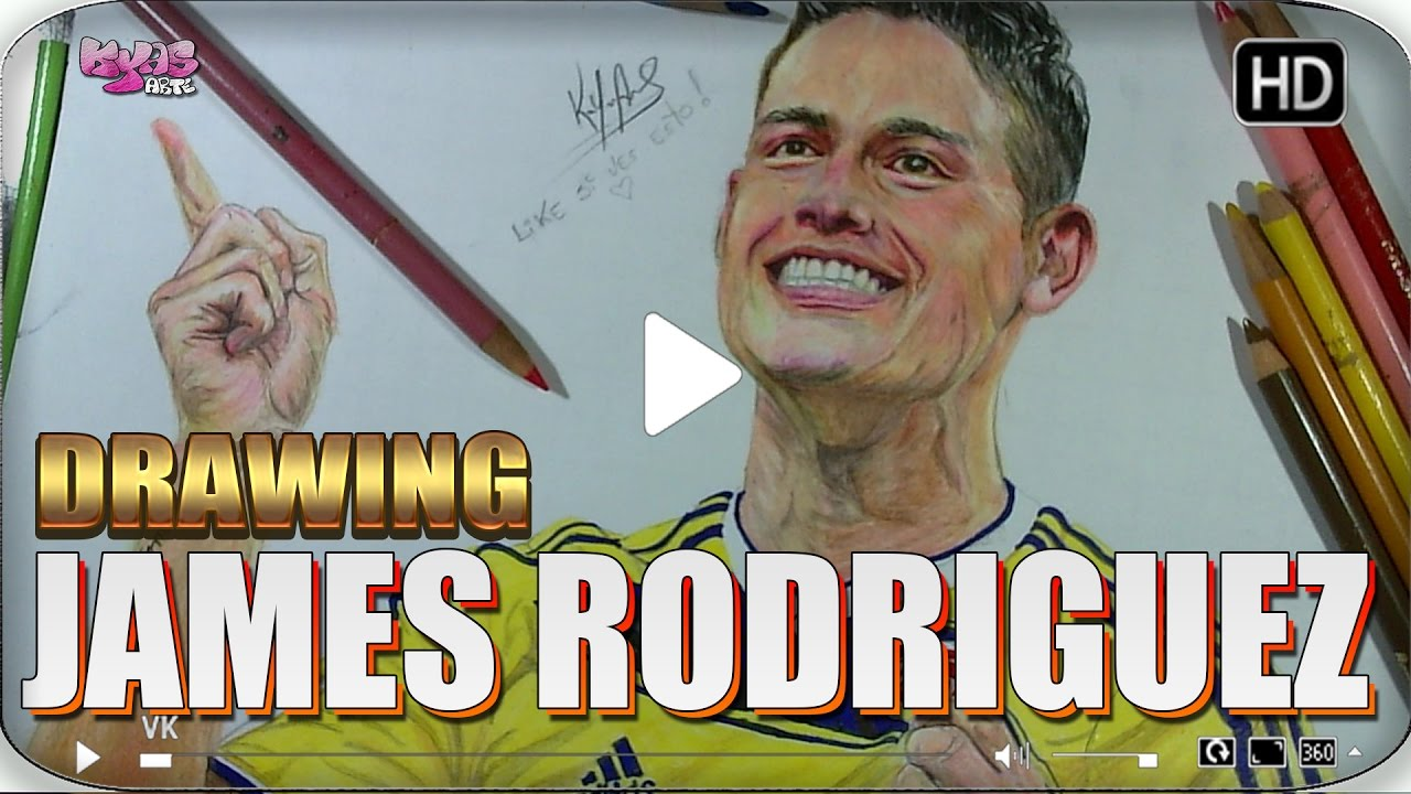 How To Draw A James Rodriguez Como Dibujar A James Rodriguez A