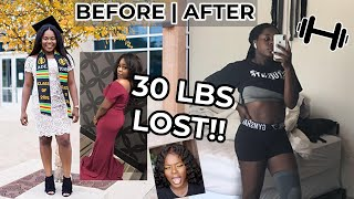 HOW I LOST 30 POUNDS! My weightloss journey! Fat to SLIM THICK || TheAdeTomi