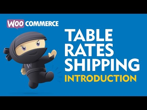 WooCommerce Table Rates Shipping Tutorial & Explanation