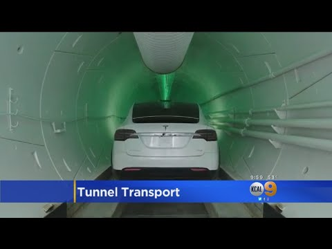 Musk Debuts Tunnel Transport System