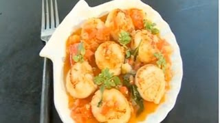 Scallops with sauce vierge recipe - Five Minute Food