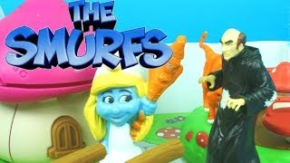The Smurfs Escape from Gargamel Adventure Playset McDonalds Smurfs 2 Smurfette Clumsy Papa Smurf