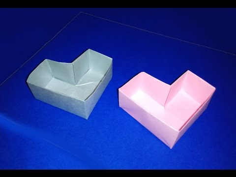 Easy Origami heart box for Valentine's day. Great ideas for gift wrapping.