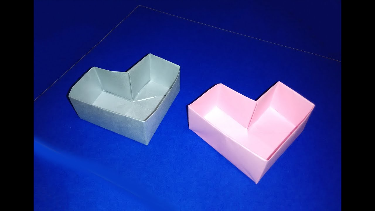 Easy Origami Heart Box For Valentine's Day Great Ideas