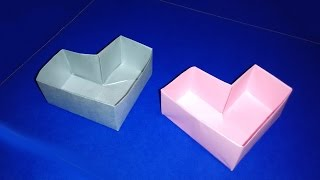 Great Ideas For  Easter. Heart Box - Easy To Do. Origami  Box. Cajita Corazón