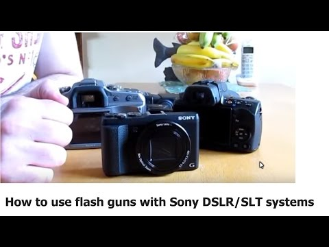 How to use Flash guns with Sony DSLR SLT hot shoe mount