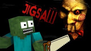 Monster School: THE SAW horror game - Minecraft Animation