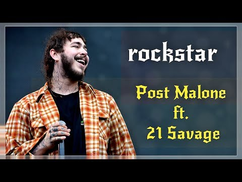 Post Malone - Rockstar  (Lyrics) feat 21 Savage | Official | Dstar & Rick Wonder Remix | HD |