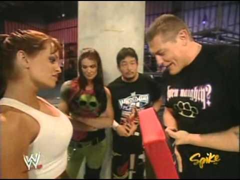 2005 03 14 RAW   Lita, Christy Hemme, Tajiri, and William Regal Backstage