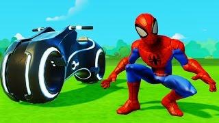 Мультик игра для детей про Супергероя Человека Паука и Машинки Дисней Superhero Spiderman Fun