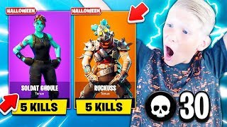 5 KILL - 1 SKIN SECRET HALLOWEEN FOR MY PETIT FREE 😱 (FORTNITE)