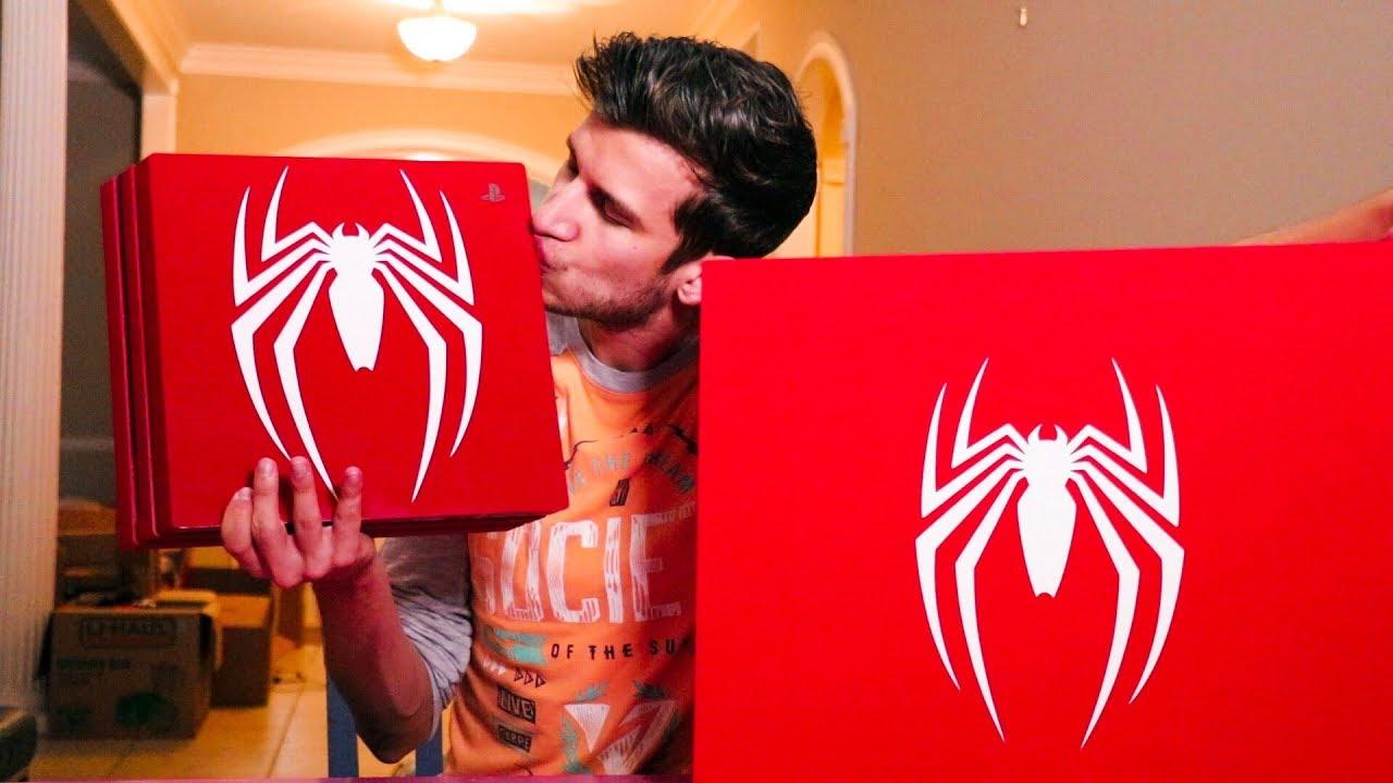 spiderman ps4 console bundle