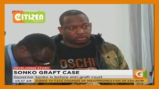 Governor Mike Sonko currently in the anti-graft court