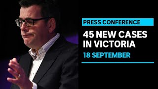 #LIVE: Victoria records 45 new infections and 5 further COVID-19 deaths | ABC News