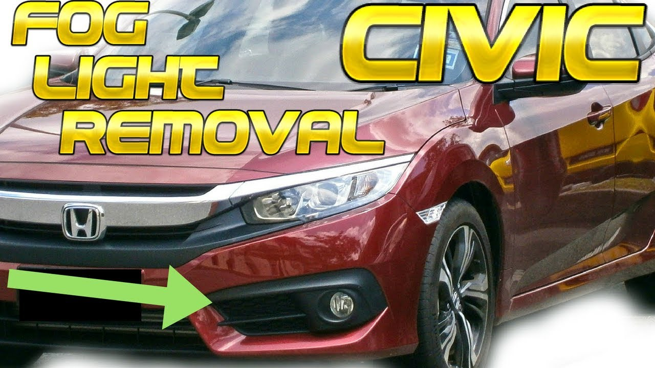 Honda Civic Fog Light Removal How To Remove Install Replace Replacement
