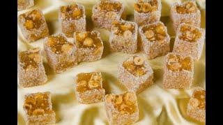 конфеты с орехами готовим дома!рецепт лукума!#лукум#лукумсорехами