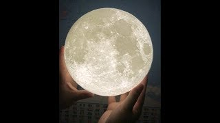 Lunar Eclipse VS 3D Printed Moon Lamp in August 2017