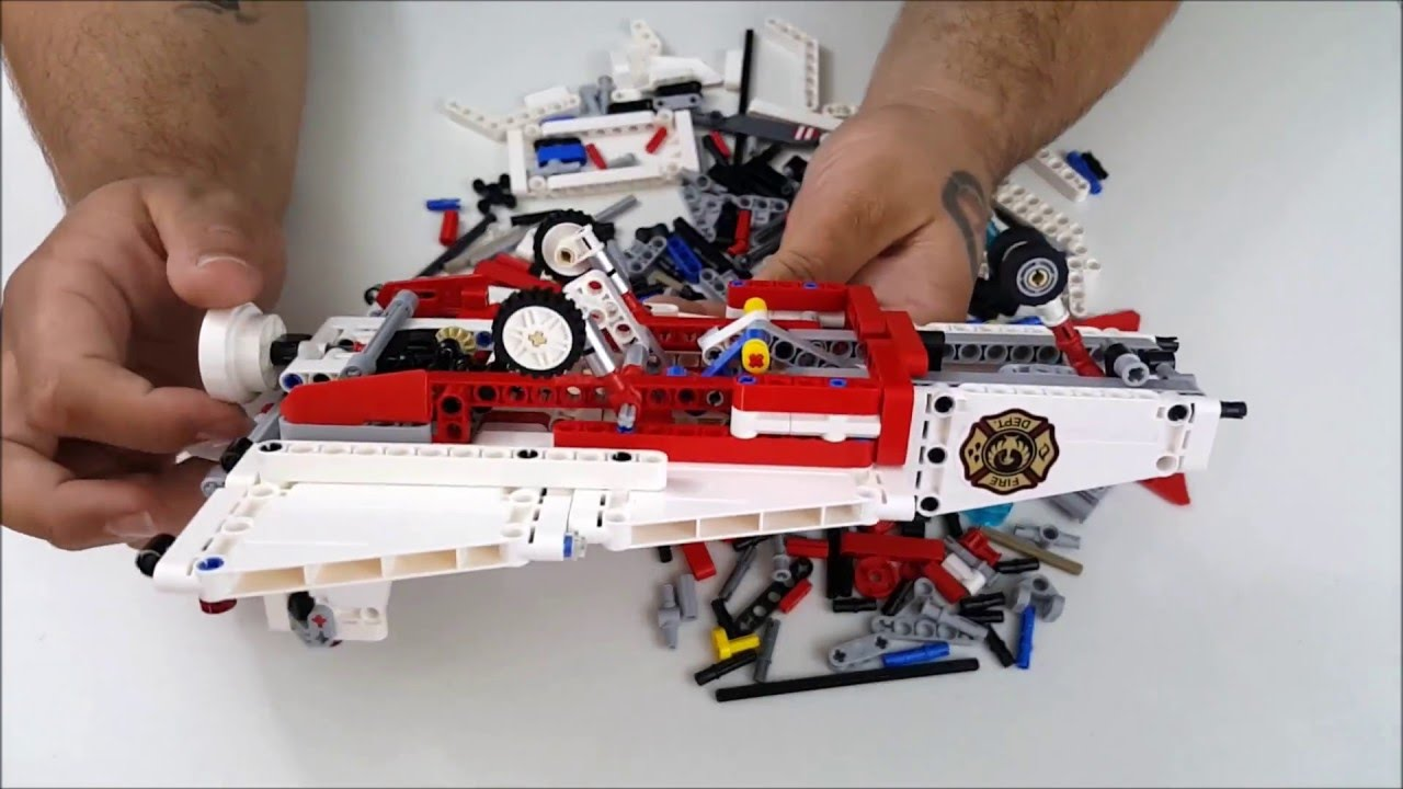 lego technic fire rescue jet 42040 youtube. Black Bedroom Furniture Sets. Home Design Ideas