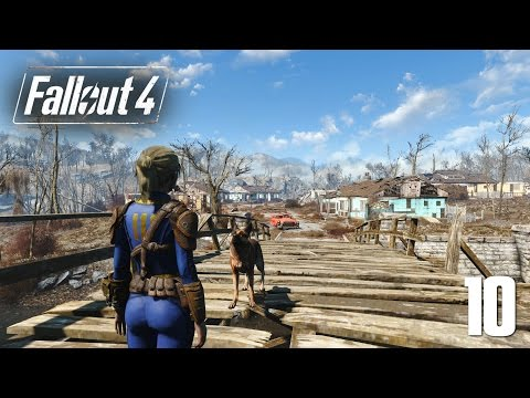 Let's Play Fallout 4 NEW Survival #10 - Boston Public Library, Take 2