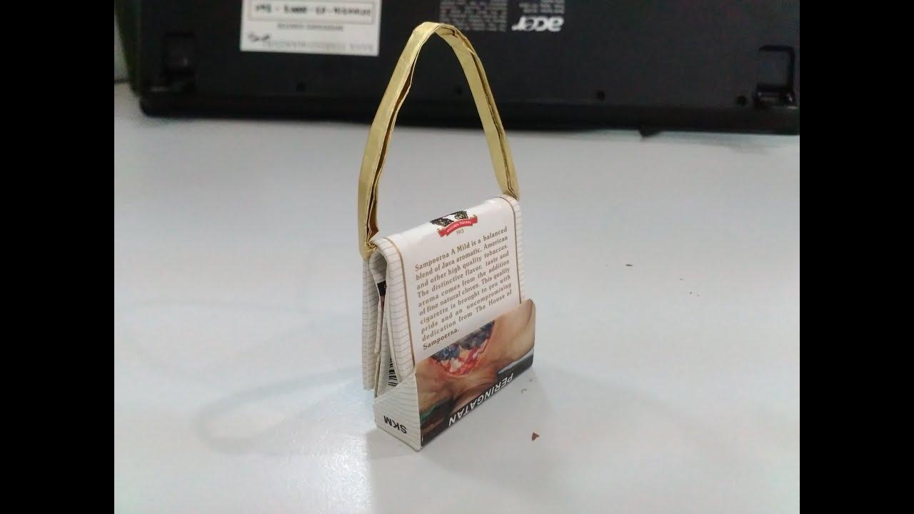 Cara Buat Tas Mainan Cantik Dari Bungkus Rokok Sangat Kreatif Youtube