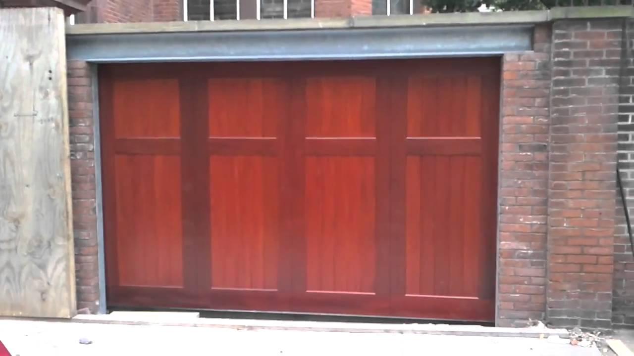 Garage Door Opens Closes In Ground Youtube