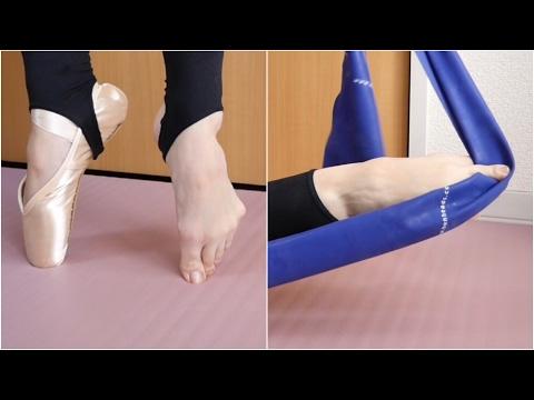バレエの足 #6 エクササイズ:ゴムで1本ずつ指伸ばし