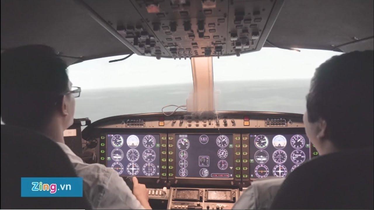 [Zing.vn] Lái thử máy bay mô phỏng trị giá nửa triệu euro tại Việt Nam