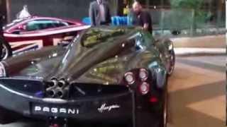 Pagani Huayra at TIFF - Italian Super Car Engine Sound