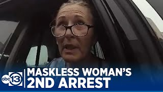 Download lagu Body cam video surfaces of maskless woman's 2nd arrest in Galveston Co.