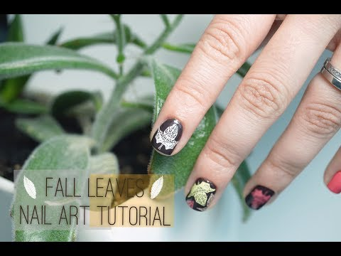 Stamped Leaves Nail Art Tutorial thumbnail