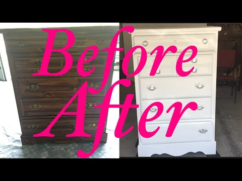 DIY HOW TO CHALK PAINT FURNITURE